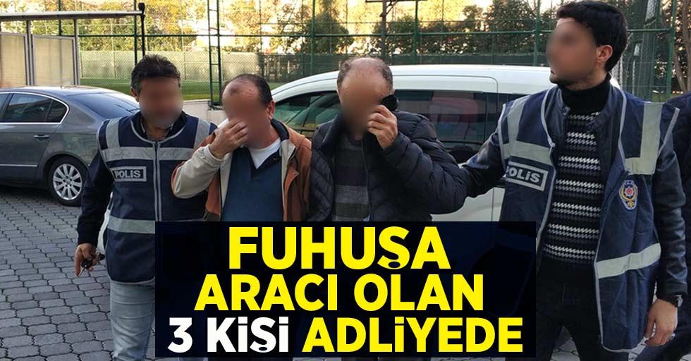 Samsun'da fuhuşa aracı olan 3 kişi adliyede