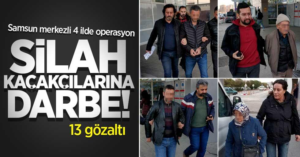 Silah kaçakçılarına darbe! 13 gözaltı