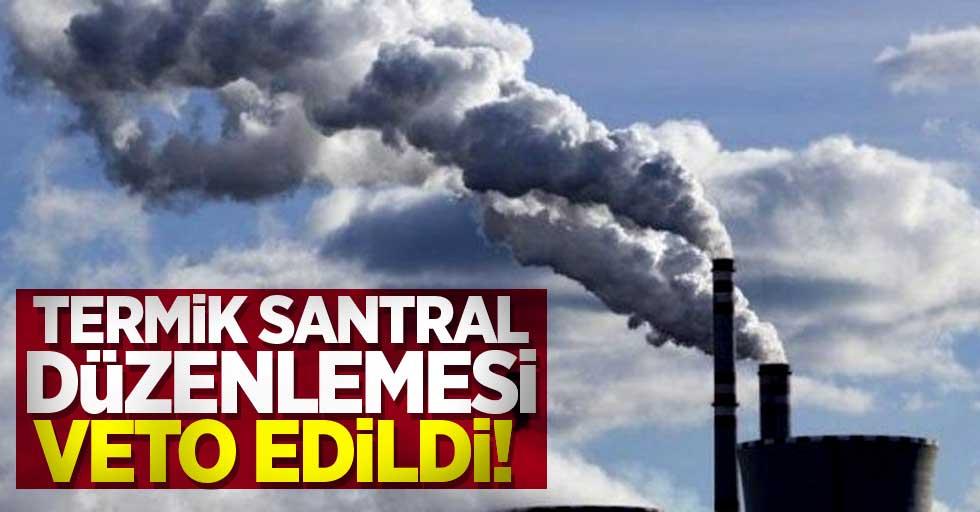 Termik santral düzenlemesi veto edildi!
