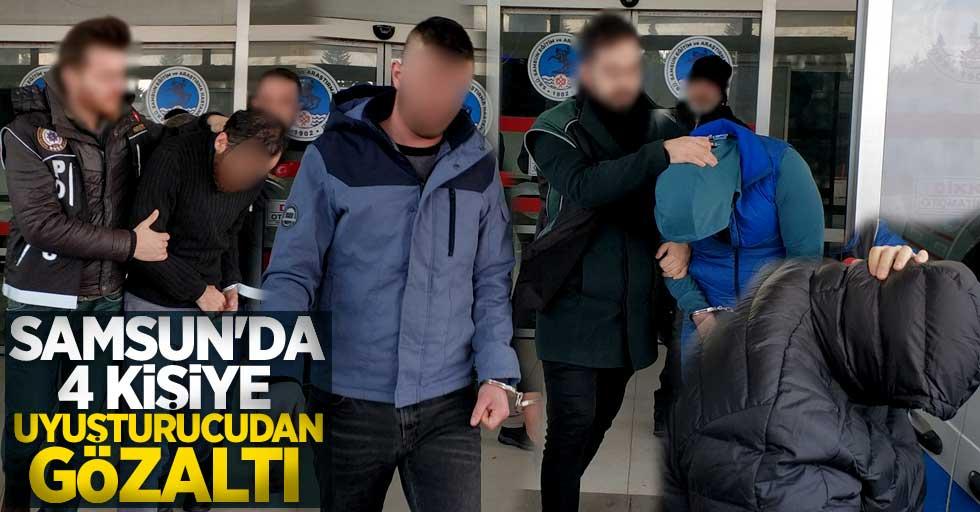 Samsun'da 4 kişiye uyuşturucudan gözaltı