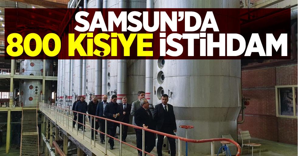 Samsun'da 800 kişiye istihdam