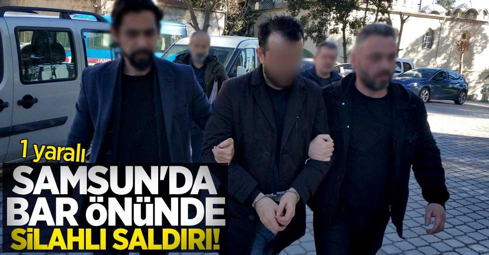 Samsun'da bar önünde silahlı saldırı! 1 yaralı