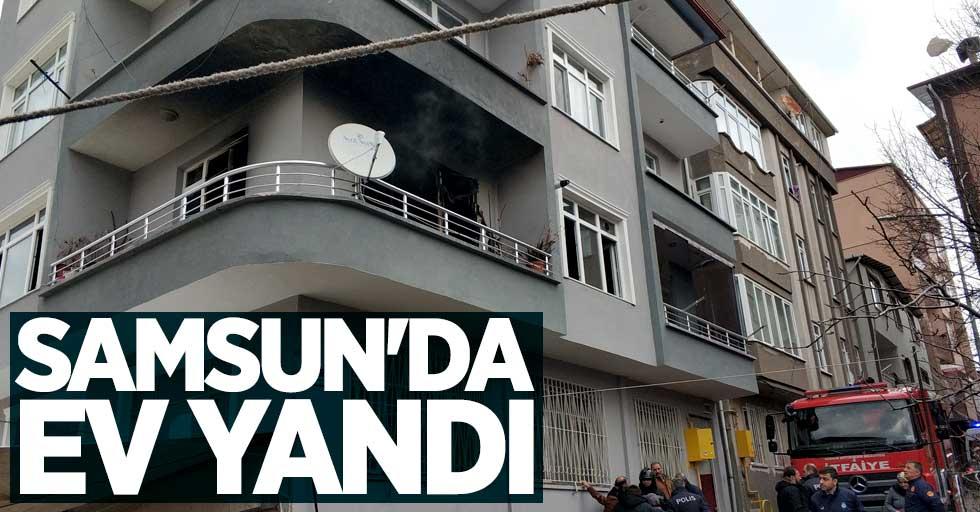 Samsun'da evde yangın!