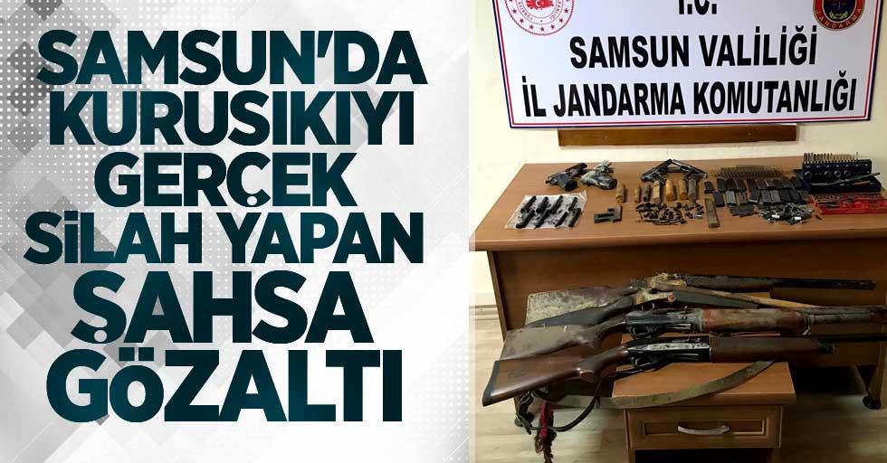 Samsun'da kurusıkıyı gerçek silah yapan şahsa gözaltı
