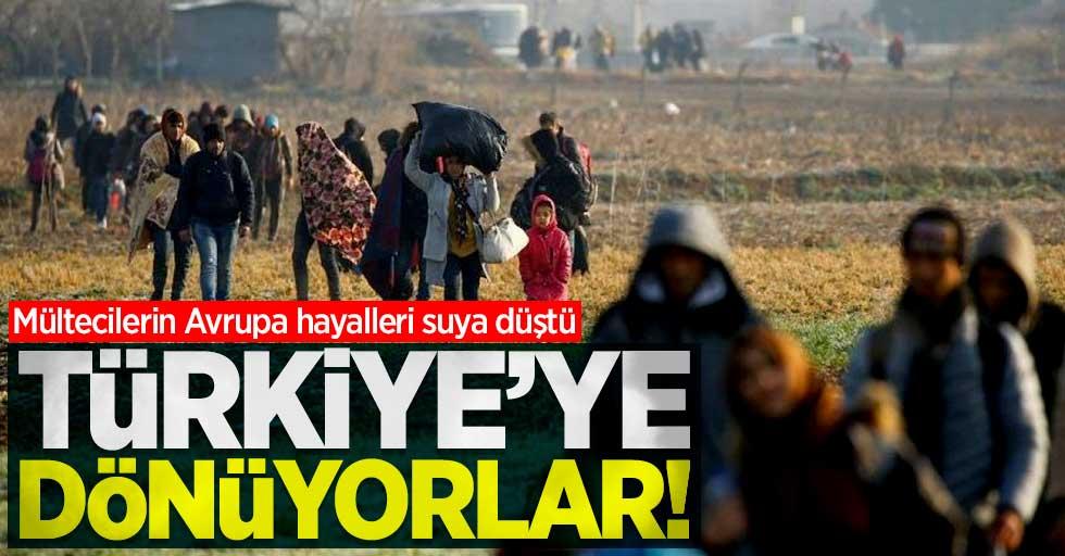Mültecilerin Avrupa hayalleri suya düştü! Türkiye'ye dönüyorlar