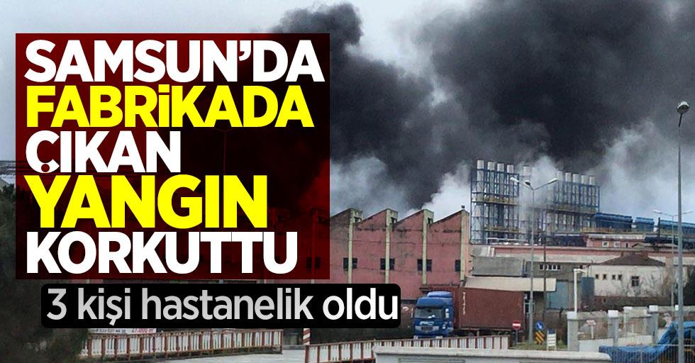 Samsun'da fabrikada çıkan yangın korkuttu 3 kişi hastanelik oldu