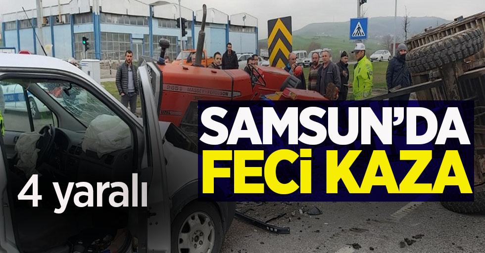 Samsun'da feci kaza 4 yaralı