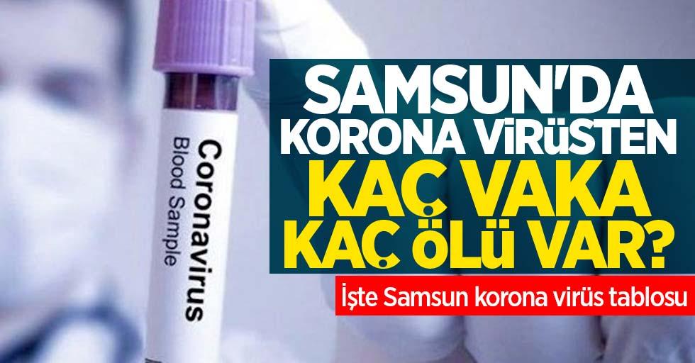 Samsun'da korona virüsten kaç vaka kaç ölü var? İşte Samsun korona virüs tablosu