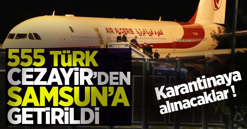 555 Türk vatandaşı Cezayir'den Samsun'a geldi