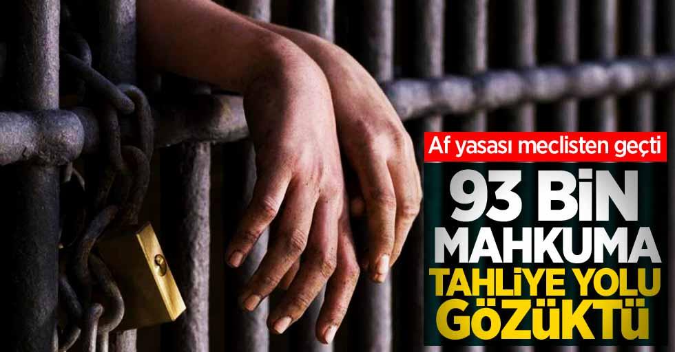 Af yasası meclisten geçti! 93 bin mahkuma tahliye yolu gözüktü