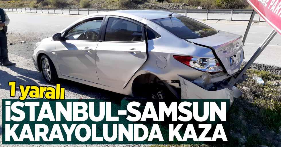 İstanbul-Samsun karayolunda kaza: 1 yaralı
