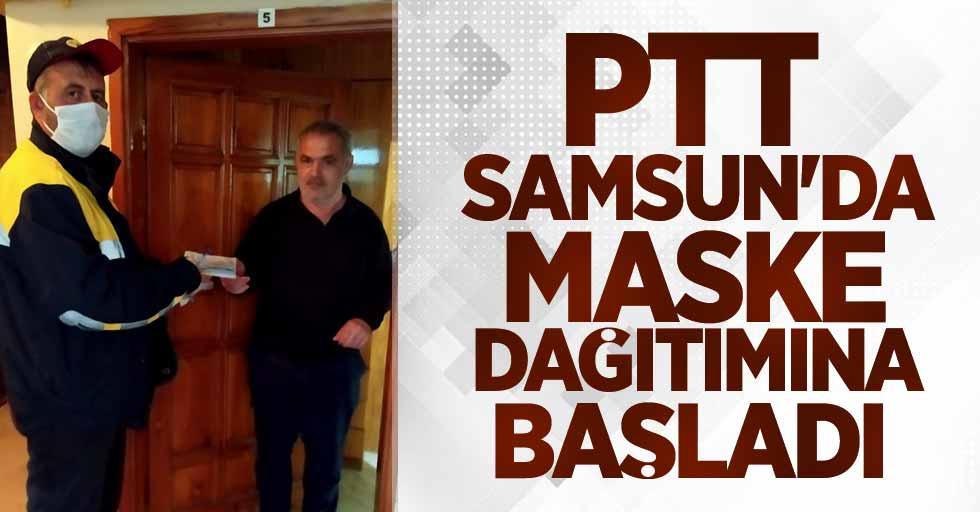 PTT Samsun'da maske dağıtımına başladı