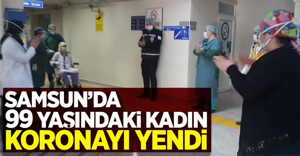 Samsun'da 99 yaşındaki kadın koronayı yendi