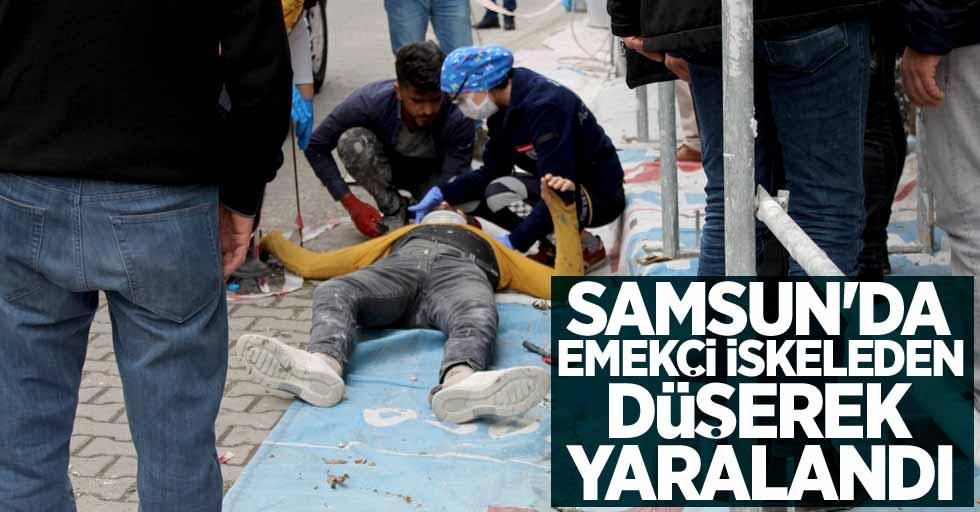 Samsun'da emekçi iskeleden düşerek yaralandı