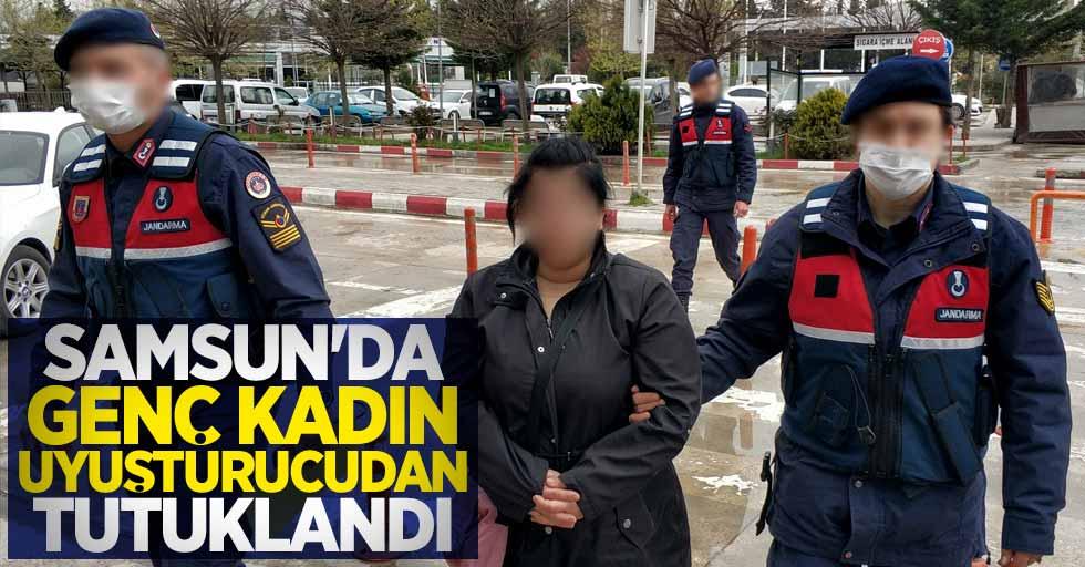 Samsun'da genç kadın uyuşturucudan tutuklandı