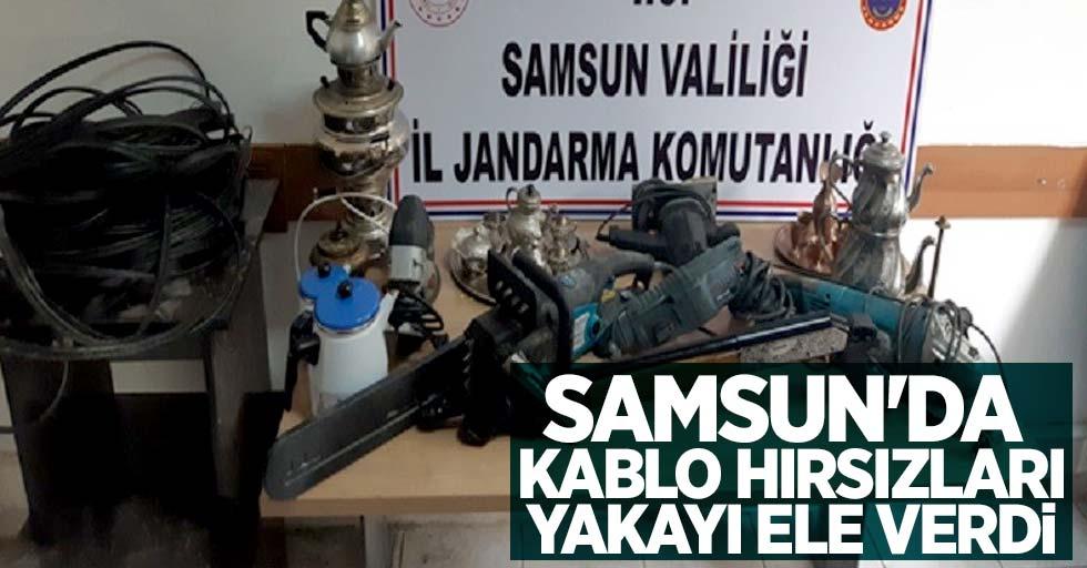 Samsun'da kablo hırsızları yakayı ele verdi