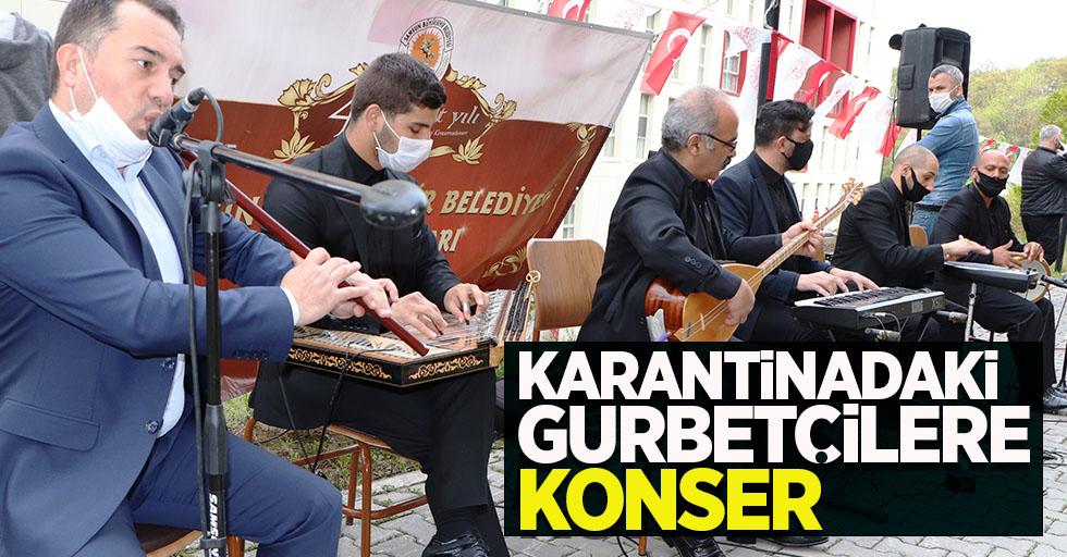 Samsun'da karantinadaki gurbetçilere konser