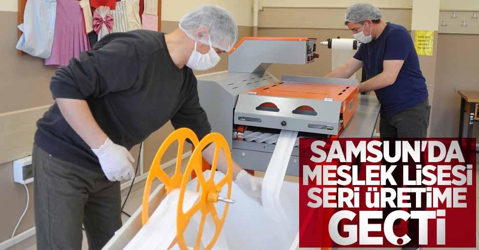 Samsun'da meslek lisesi seri üretime geçti