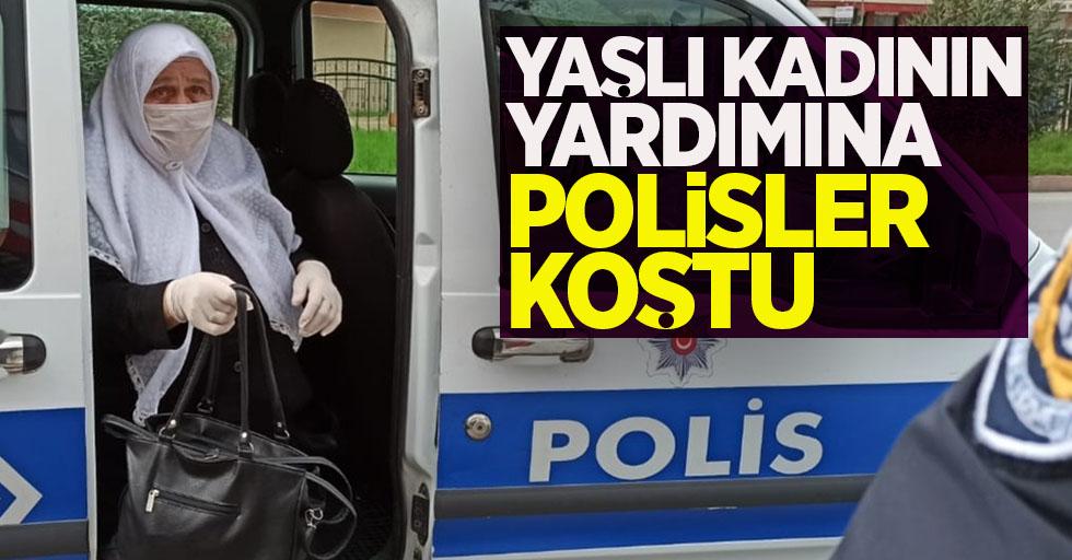 Yaşlı kadının yardımına polisler koştu