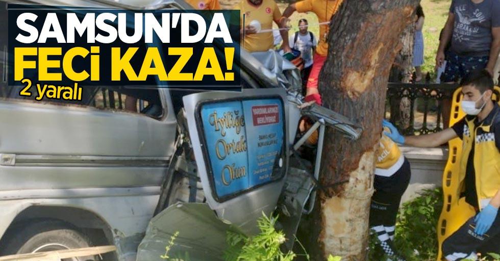 Samsun'da feci kaza: 2 yaralı