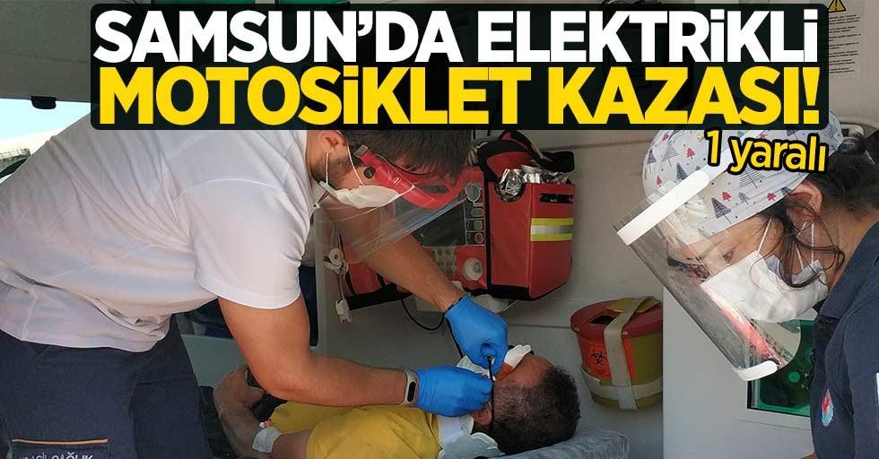 Samsun'da elektrikli motosiklet kazası