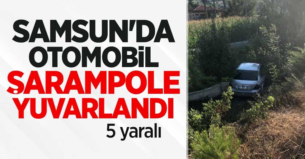 Samsun'da otomobil şarampole yuvarlandı: 5 yaralı