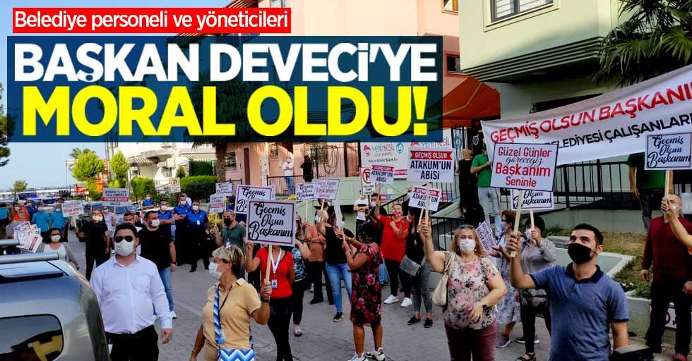 Belediye çalışanları Başkan Deveci'ye moral oldu