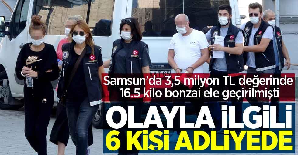 Samsun'da 6 kişi uyuşturucudan adliyede