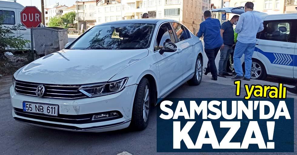 Samsun'da kaza: 1 yaralı