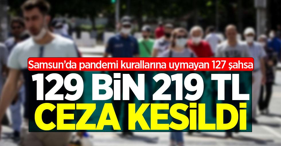 Samsun'da pandemi kurallarına uymayan 127 şahsa 129 bin 210 lira para cezası kesildi