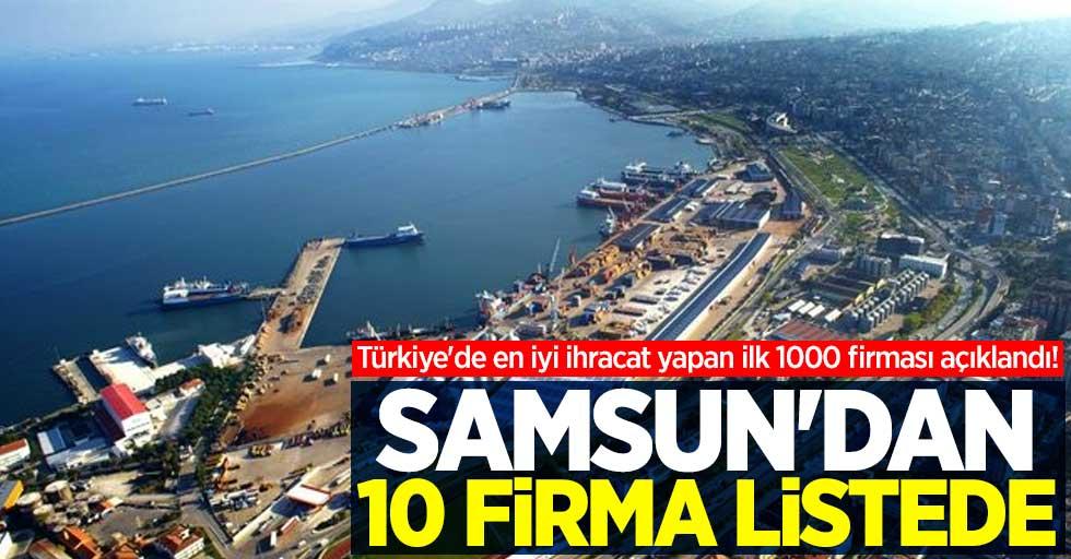 Türkiye'de ihracat yapan ilk 1000 firması açıklandı! Samsun'dan 10 firma listede