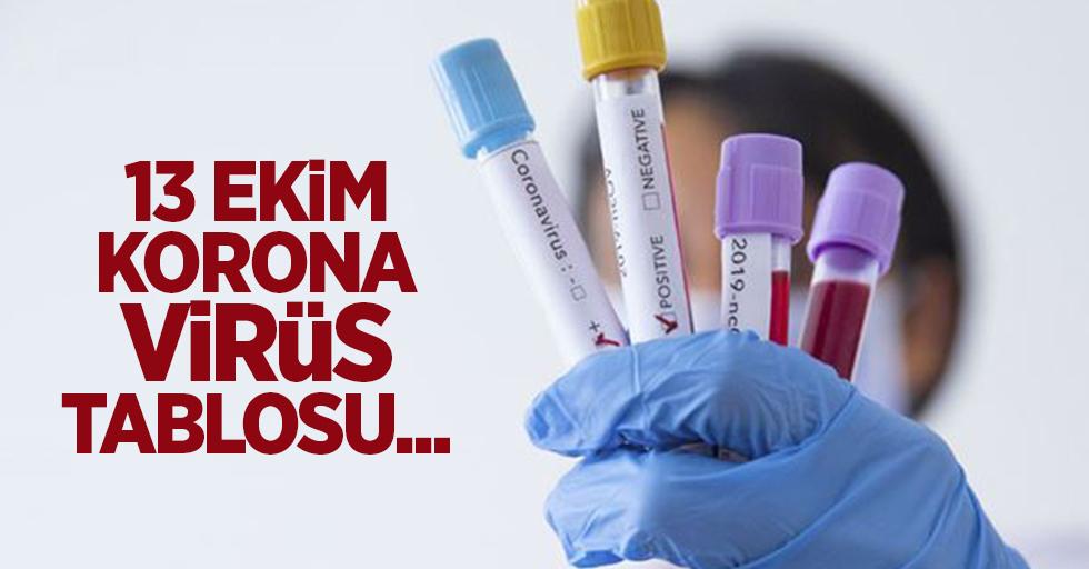 13 Ekim korona virüs tablosu açıklandı
