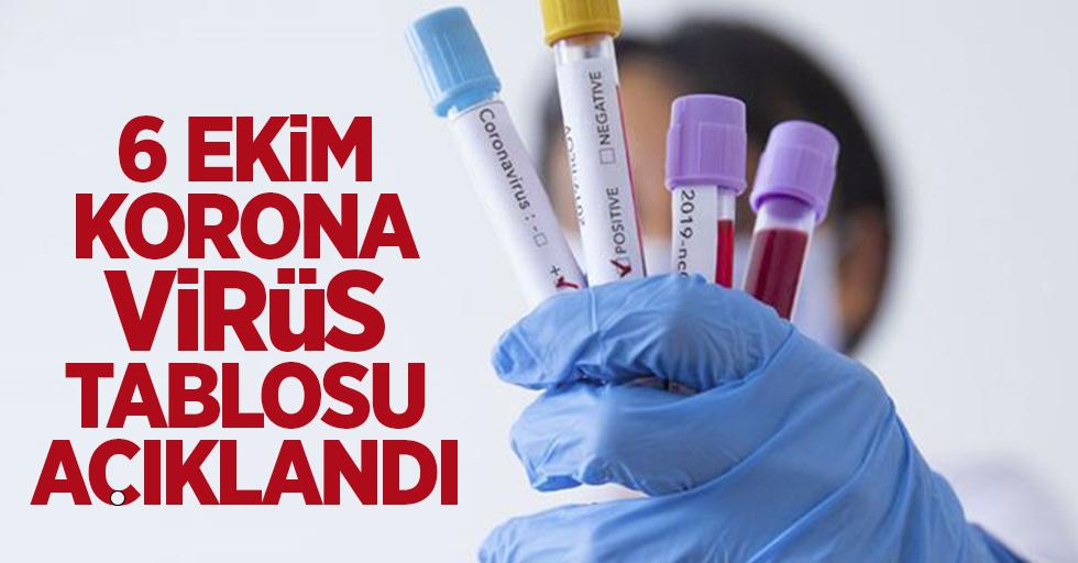 6 Ekim korona virüs tablosu açıklandı