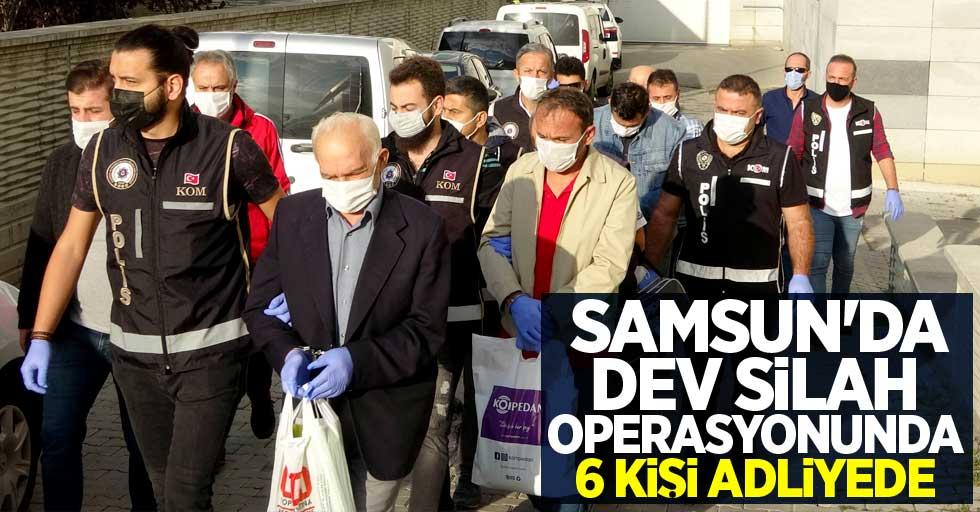 Samsun'da dev silah operasyonunda 6 kişi adliyede