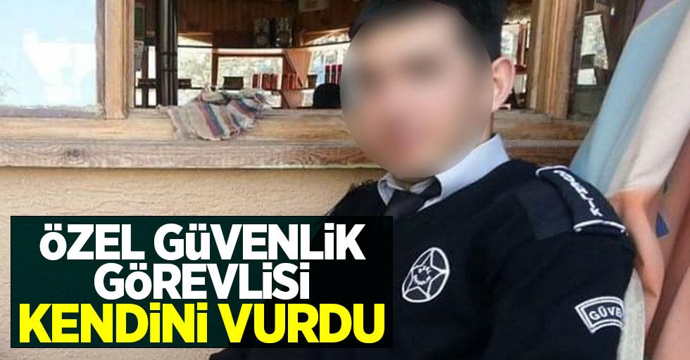 Samsun'da özel güvenlik görevlisi kendini vurdu!