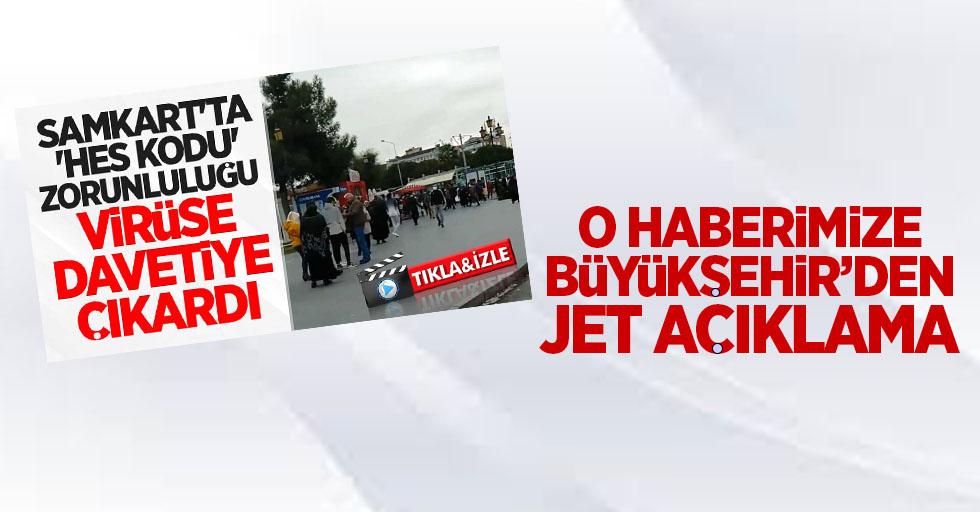 O haberimize Büyükşehir'den jet açıklama