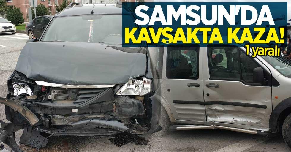 Samsun'da kavşakta kaza! 1 yaralı