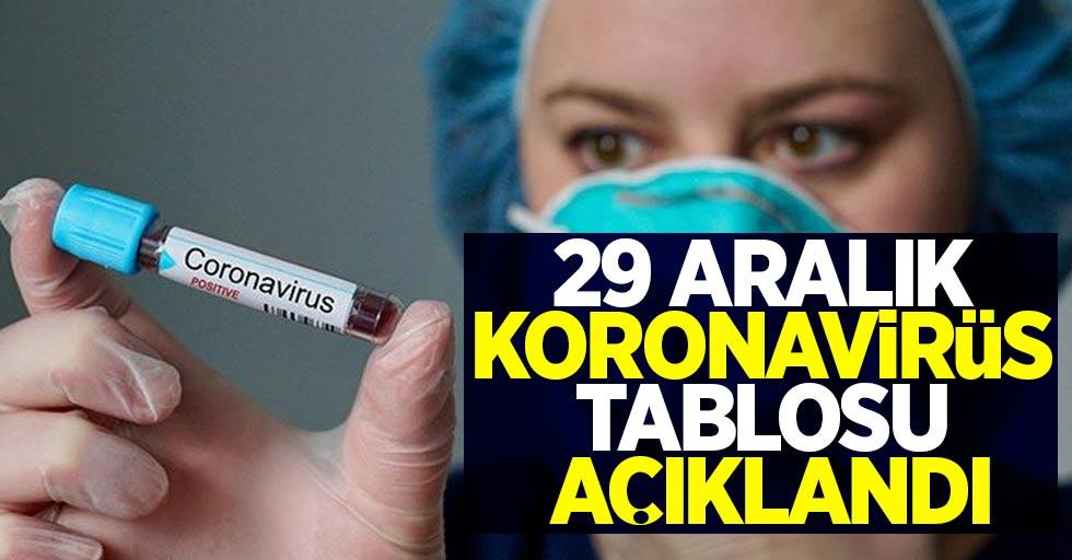 29 Aralık koronavirüs tablosu açıklandı!