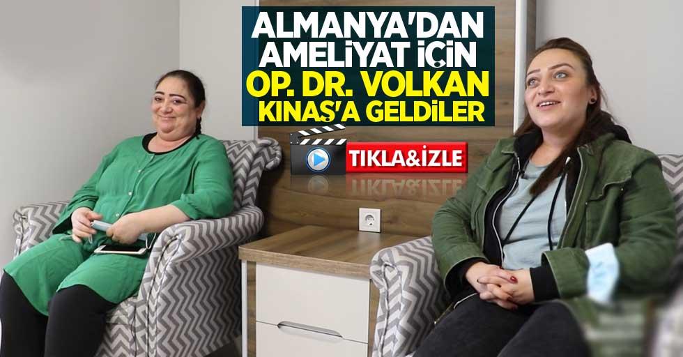 Almanya'dan ameliyat için Op. Dr. Volkan Kınaş'a geldiler