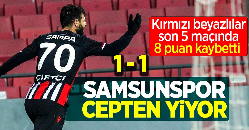 Kırmızı beyazlılar, son 5 maçında 8 puan kaybetti! Samsunspor cepten yiyor 1-1