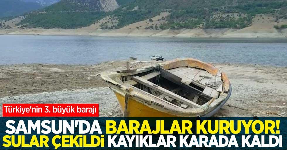 Samsun'da barajlar kuruyor
