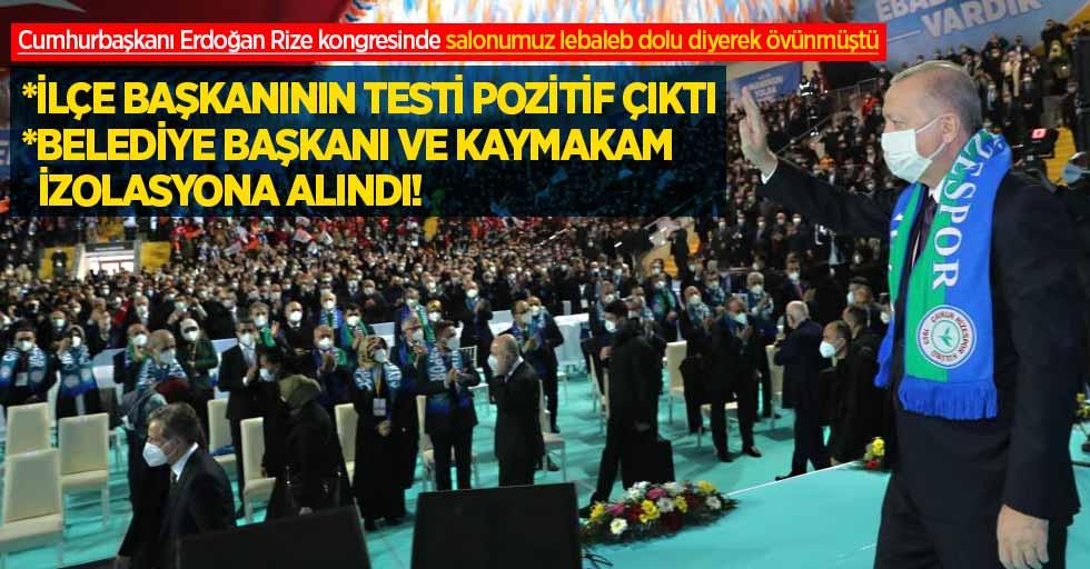 AK Parti İl Kongresinin ardından Rize karıştı! ERDOĞAN'IN ZİYARET ETTİĞİ İLÇE BAŞKANININ TESTİ POZİTİF ÇIKTI