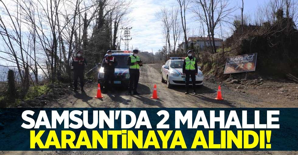 Samsun#039;da 2 mahalle karantinaya alındı!