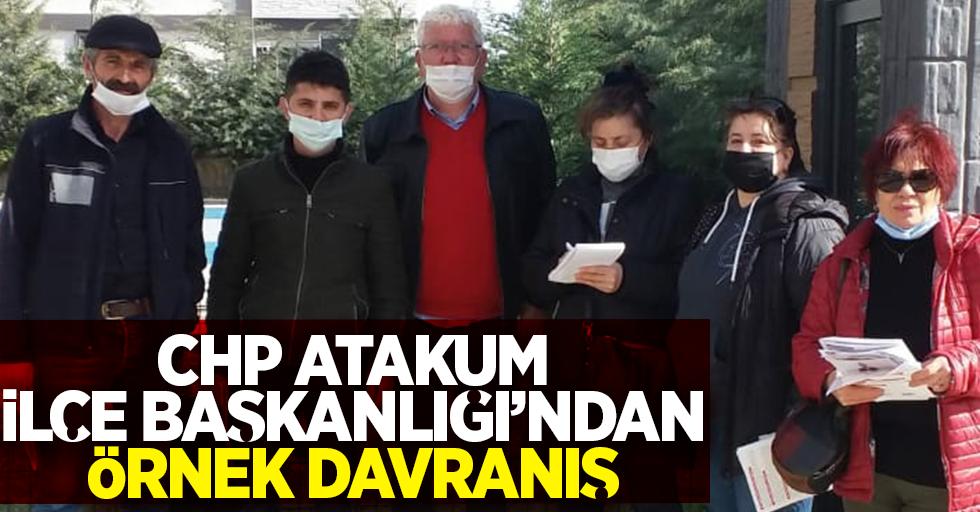 CHP Atakum İlçe Başkanlığı'ndan örnek davranış