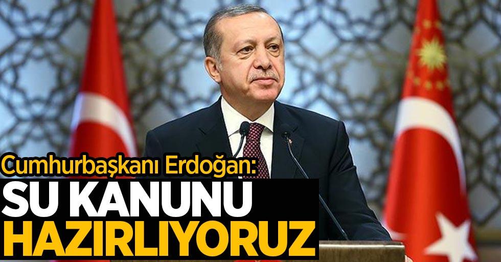 Cumhurbaşkanı Erdoğan: Su kanunu hazırlıyoruz