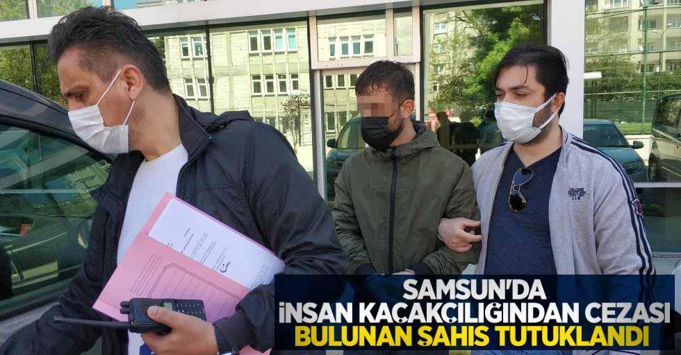 Samsun'da insan kaçakçılığından cezası bulunan şahıs tutuklandı