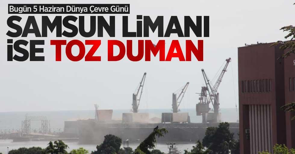 Dünya Çevre Günü'nde Samsun Limanı toz duman