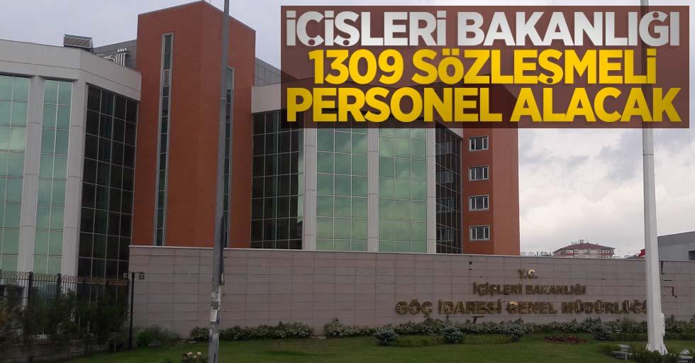 İçişleri Bakanlığı 1309 sözleşmeli personel alacak