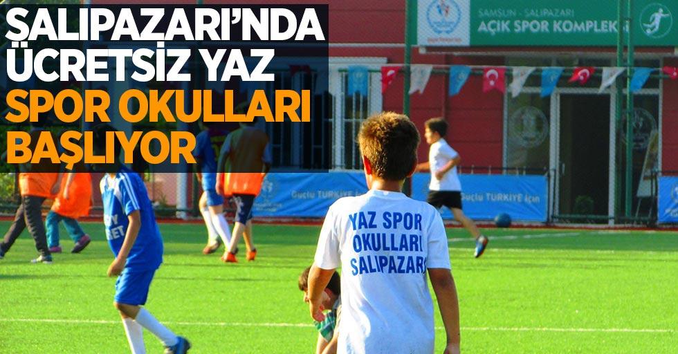 Salıpazarı'nda ücretsiz yaz spor okulları başlıyor