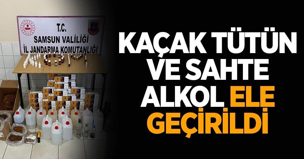 Samsun'da kaçak tütün ve sahte alkol ele geçirildi